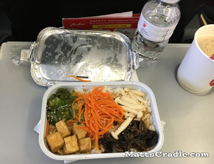 airasia airline meal seoul to manila