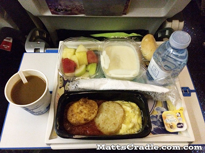 klm economy breakfast meal