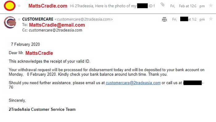 online stock broker email sample