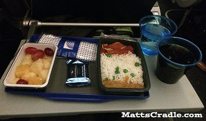 united airlines inflight meal breakfast