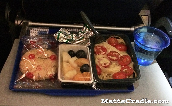 united airline economy inflight meal