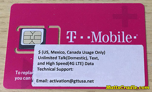 t mobile sim card for tourist california usa