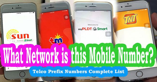 telco prefix number philippines