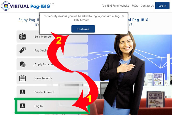 virtual pagibig login page