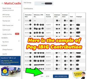 pag ibig contribution sample