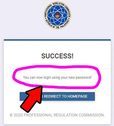 prc leris login online new password