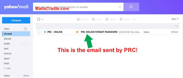 prc password email account