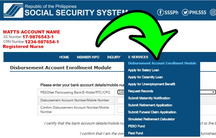 sss bank enrollment step 3-1