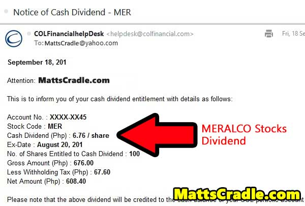 meralco dividend sample