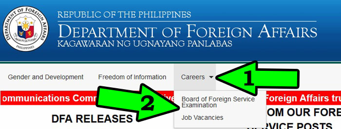 department of foreign affairs vacancies