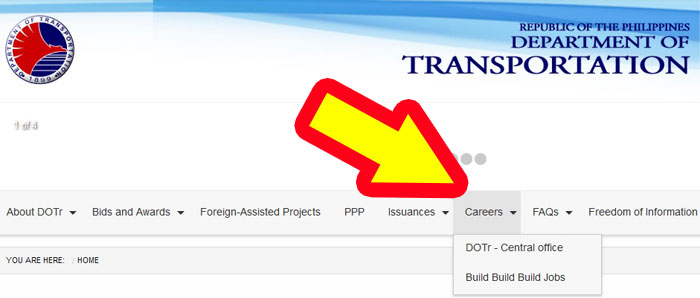 department of transportation jobs