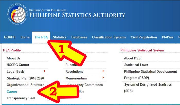 Philippine statistics authority jobs