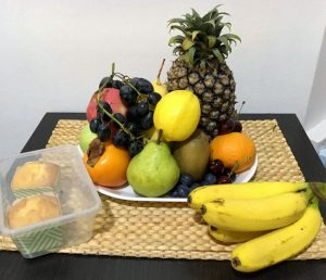 round fruits for new year preparation