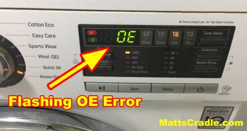 washing machine oe error photo