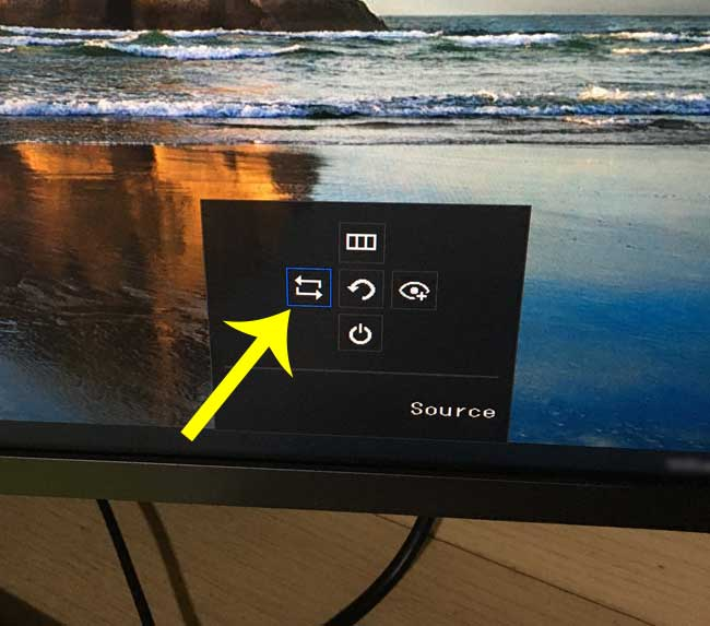 how to set the source of second screen in windows 10