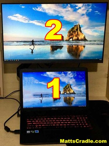 second screen located on top of windows 10 laptop