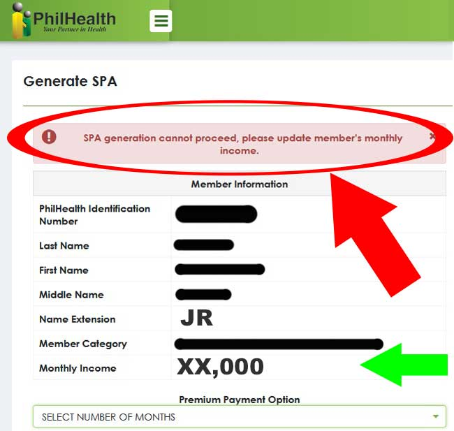 update monthly income philhealth