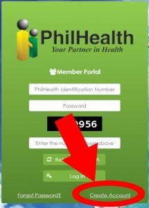 how to create account in philhealth