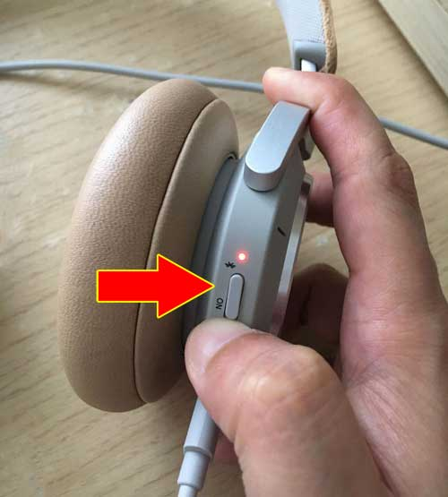 push the function button towards the bluetooth icon