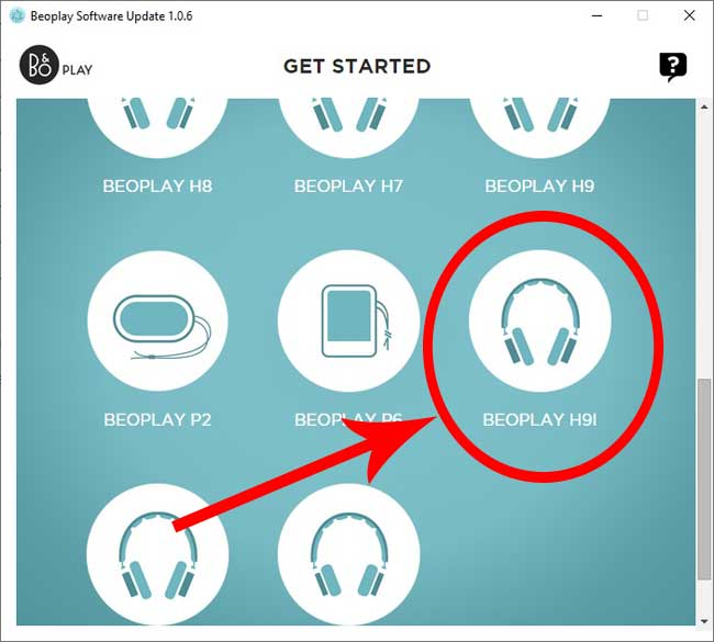 select your bang and olufsen headphone products