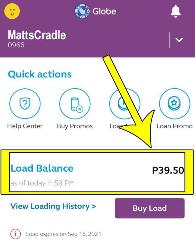 check balance via globeone app