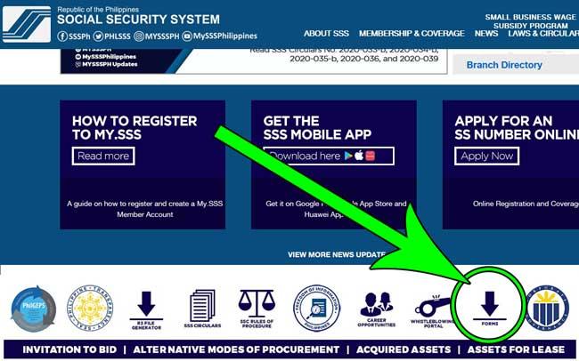 get sss forms online