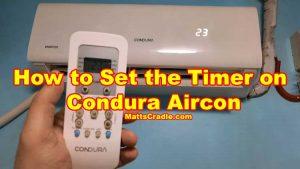 condura aircon timer