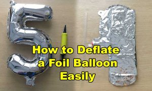 how to deflate foil balloon with straw easily